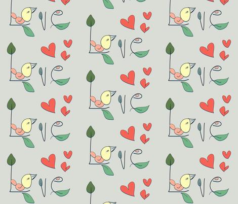 Lovebird fabric by szilvia on Spoonflower - custom fabric