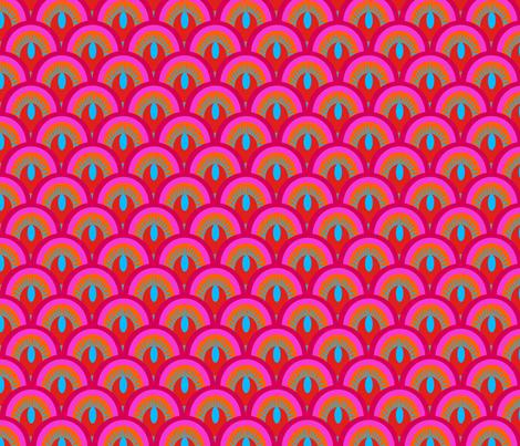 ecailles_fond_bleu_S fabric by nadja_petremand on Spoonflower - custom fabric