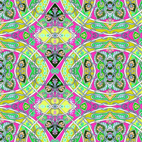 Sweet Hearts of the Pop Art Realm fabric by edsel2084 on Spoonflower - custom fabric
