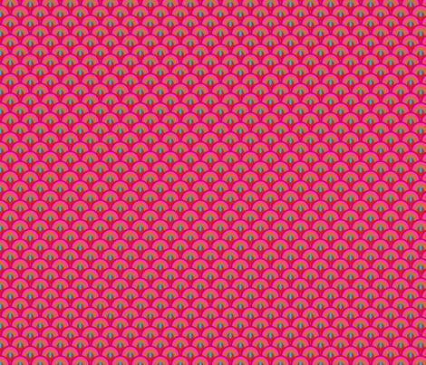 ecailles_fond_bleu_XS fabric by nadja_petremand on Spoonflower - custom fabric