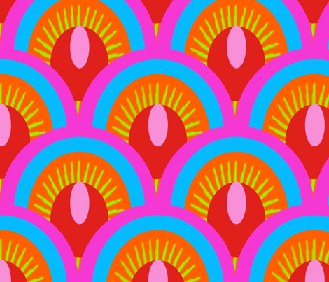 ecailles_fond_rouge_L fabric by nadja_petremand on Spoonflower - custom fabric