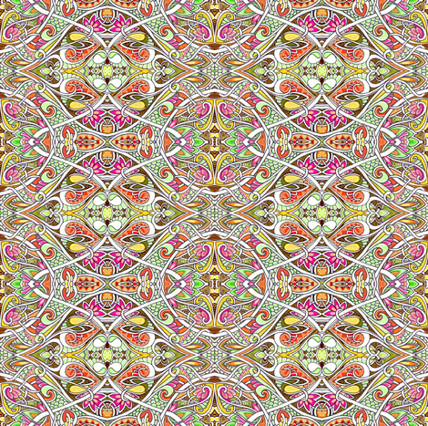 Ornamental Porthole Peek a Boo fabric by edsel2084 on Spoonflower - custom fabric