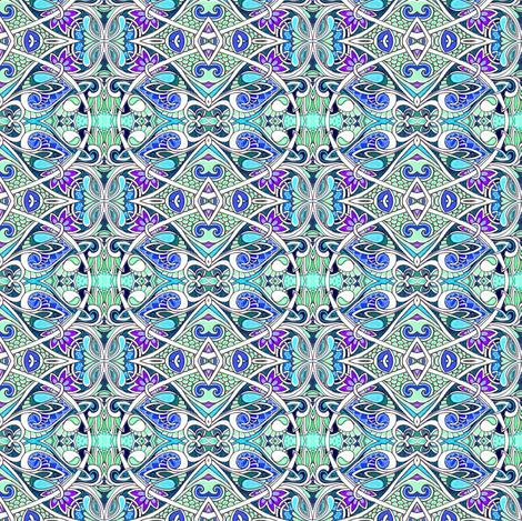 Lizard Skin Blues fabric by edsel2084 on Spoonflower - custom fabric