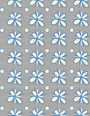Floral Meadow - grey
