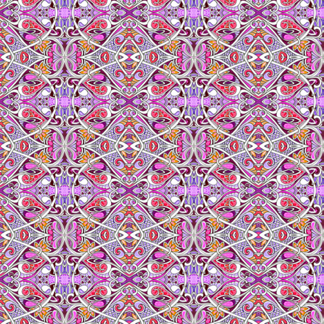 Revenge of the Scallop Vertical Stripe fabric by edsel2084 on Spoonflower - custom fabric