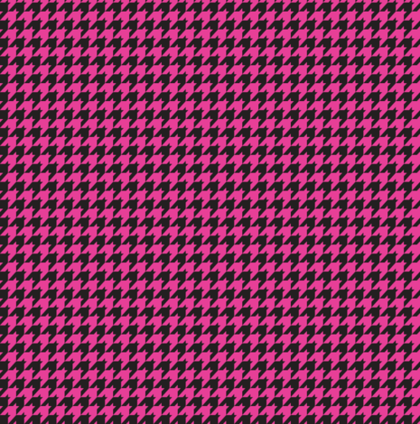Black and Hot Pink Houndstooth fabric by cutencomfy on Spoonflower - custom fabric