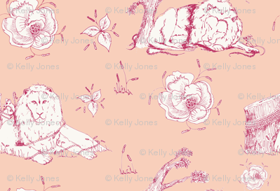 Lion_mouse_toile_peach_preview
