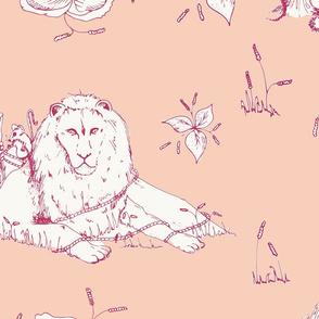 lion_mouse_toile_peach