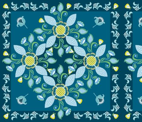 gypsy_bandanna_blue fabric by antoniamanda on Spoonflower - custom fabric