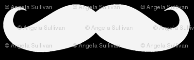 White on Black Mustache