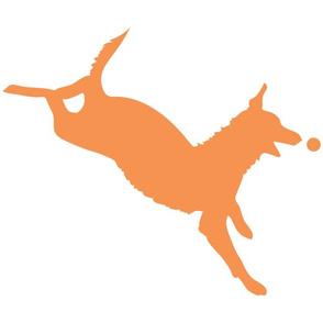 Orange Dog with Ball 15x15