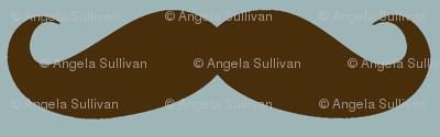 Brown/Blue Mustache
