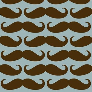 Brown/Blue Mustache