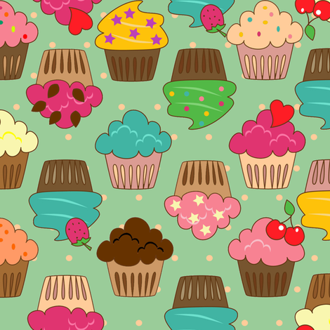 cupcakes fabric by krs_expressions on Spoonflower - custom fabric