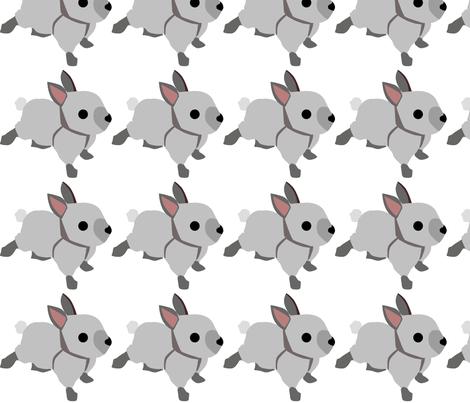 Baby Bunny Decal 5x5 fabric by richardrainbolt on Spoonflower - custom fabric
