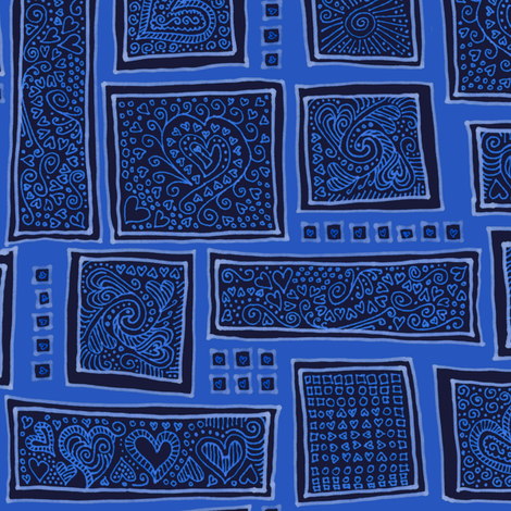 mood indigo fabric by weavingmajor on Spoonflower - custom fabric