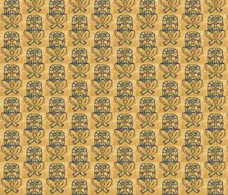 Atabey - Mother Earth-ed fabric by technorican on Spoonflower - custom fabric