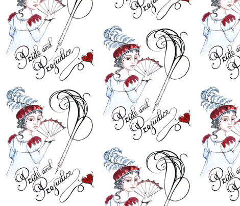 Jane's Pride and Prejudice fabric by lillycat on Spoonflower - custom fabric