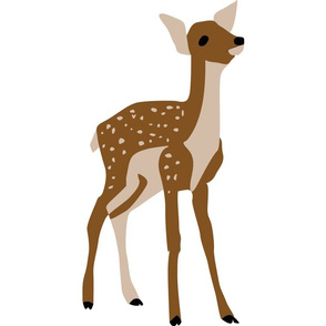 Baby Deer Decal 15x15