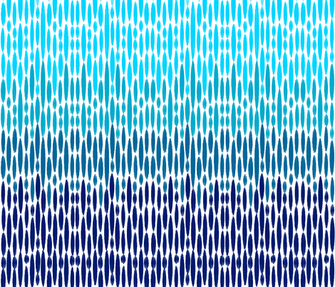 Ombre Ikat Raindrops fabric by dreamincolour on Spoonflower - custom fabric