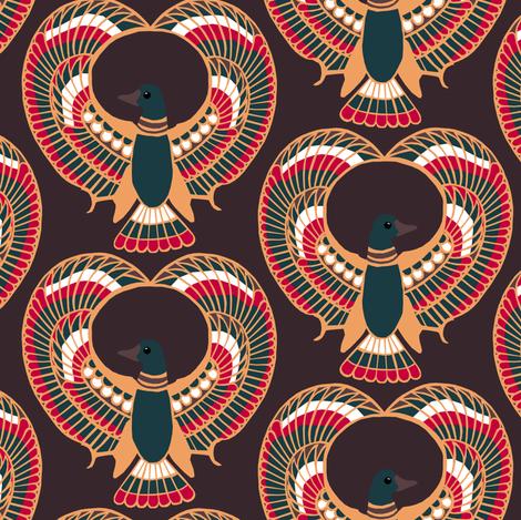 Egyptian Ducks fabric by pond_ripple on Spoonflower - custom fabric