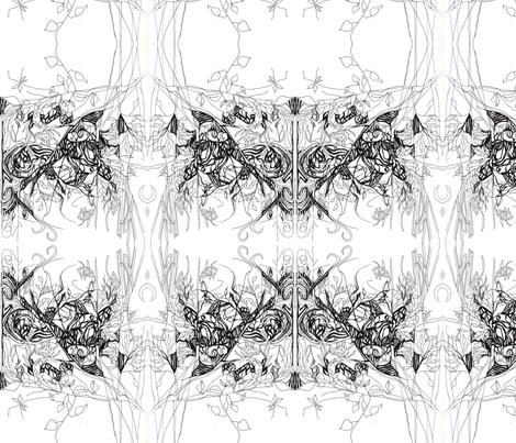 blackandwhite fabric by maryo on Spoonflower - custom fabric