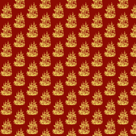 Golden Pagoda fabric by amyvail on Spoonflower - custom fabric