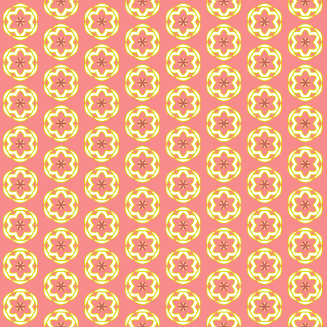 DreamFlower Dots    -small  -coral fabric by fireflower on Spoonflower - custom fabric