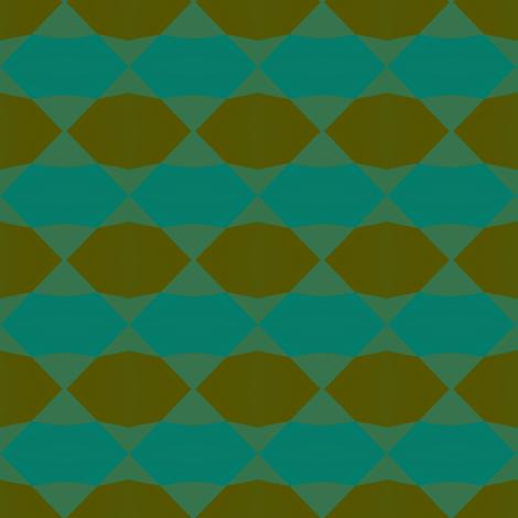 Fall Check 1   -teal fabric by fireflower on Spoonflower - custom fabric