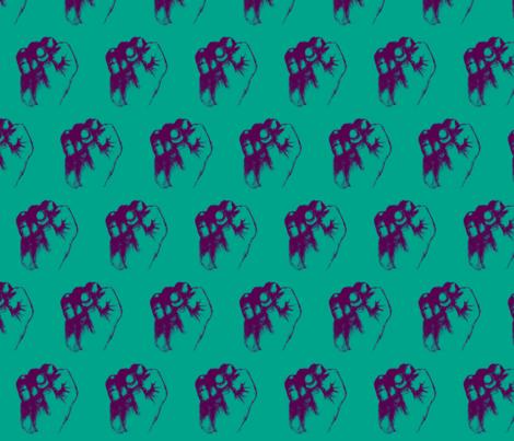 Pop Art Fist fabric by spacepyjamas on Spoonflower - custom fabric