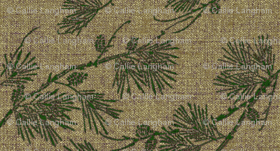 pine - green/gold-beige