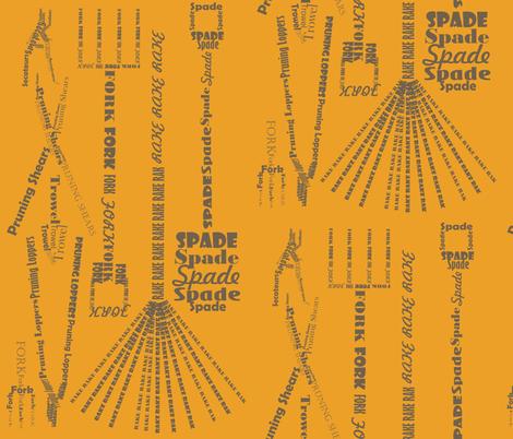Rusty Spadework Literature fabric by smuk on Spoonflower - custom fabric