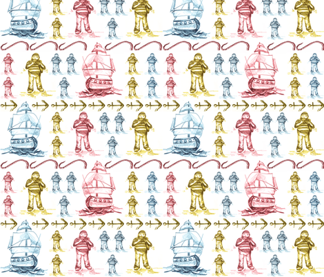 Its_off_to_sea_we_go fabric by tat1 on Spoonflower - custom fabric