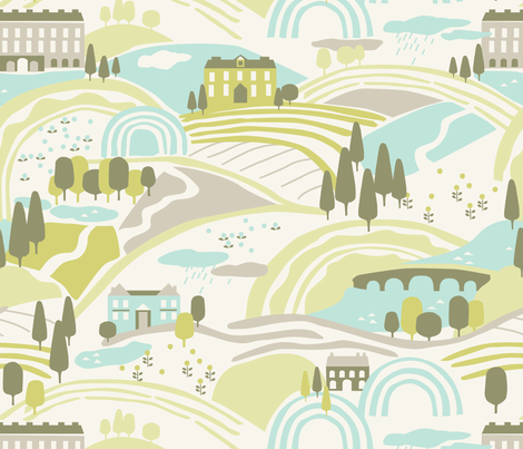Lizzie's Walk fabric by kate_legge on Spoonflower - custom fabric