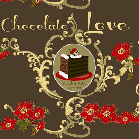 Chocolate Love / cake fabric by paragonstudios on Spoonflower - custom fabric