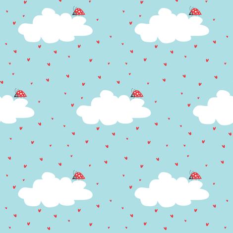 It's Raining Hearts. fabric by halfpinthome on Spoonflower - custom fabric