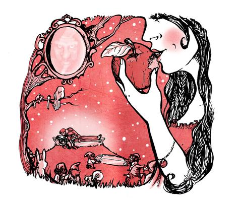 Fairytale: Snow White fabric by loeff on Spoonflower - custom fabric