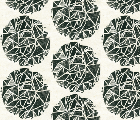 geometry is fun! (black on white) fabric by three_cats_in_a_wicker_basket on Spoonflower - custom fabric
