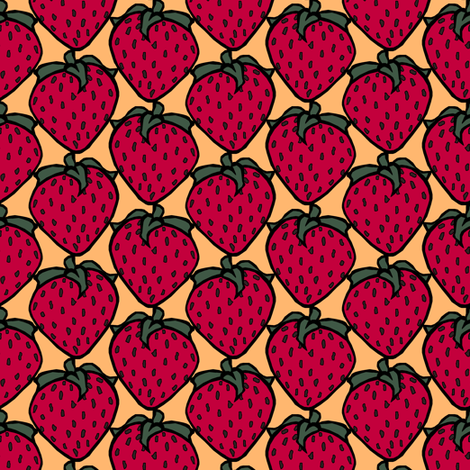 Strawberry fabric by pond_ripple on Spoonflower - custom fabric