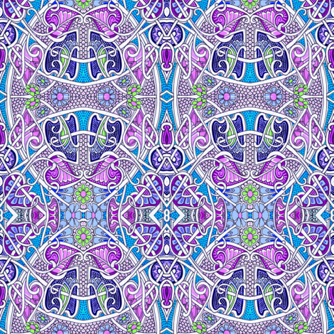 In Came the Lady with the Alligator Purse fabric by edsel2084 on Spoonflower - custom fabric