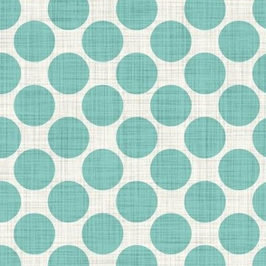 Distressed Dots in Aqua