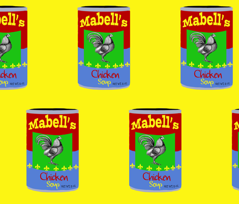 Mabell's Chicken Soup Pop Art fabric by karenharveycox on Spoonflower - custom fabric