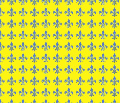 Pop Art fleur di lis fabric by karenharveycox on Spoonflower - custom fabric