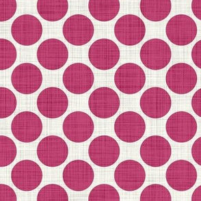 Distressed Dots in Magenta