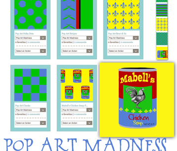 Pop Art Madness Fabric Collection fabric by karenharveycox on Spoonflower - custom fabric