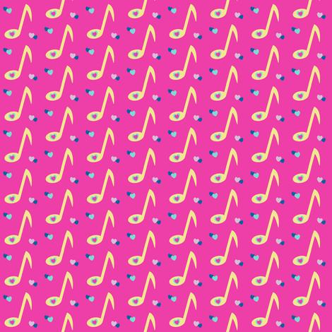 Musical Love Fest! - Rock & Royalty  - © PinkSodaPop 4ComputerHeaven.com fabric by pinksodapop on Spoonflower - custom fabric