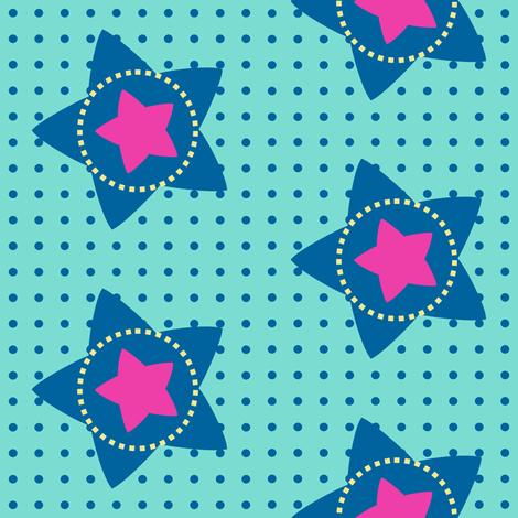 Super Stars Rock The Dots! - Rock & Royalty  - © PinkSodaPop 4ComputerHeaven.com fabric by pinksodapop on Spoonflower - custom fabric