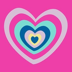 Big Rainbow Hearts ROCK! - Rock & Royalty  - © PinkSodaPop 4ComputerHeaven.com