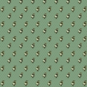 Antique Green Calico - good