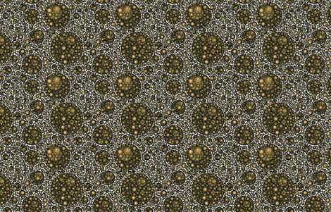 brown and gold circles, 12 inch repeat fabric by craige on Spoonflower - custom fabric